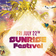 Sunrise Festival - GraphicRiver Item for Sale
