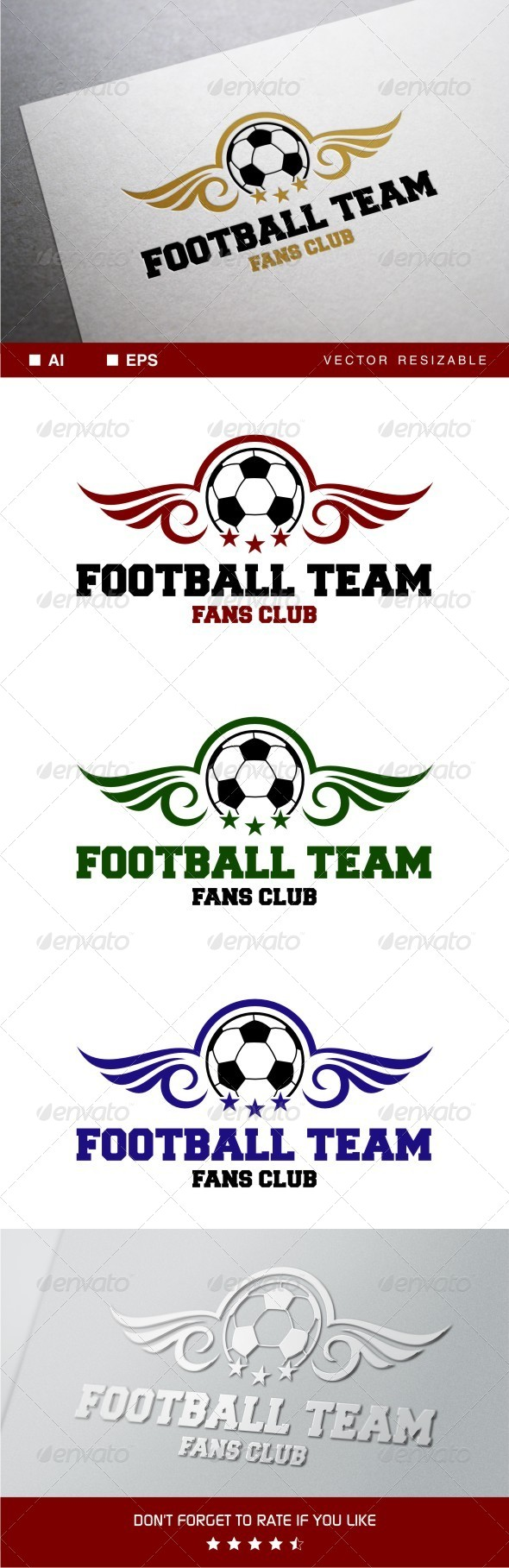 GraphicRiver Football Team Logo 7921350