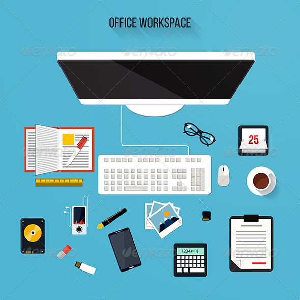 GraphicRiver Modern Design Office Elements 7921385