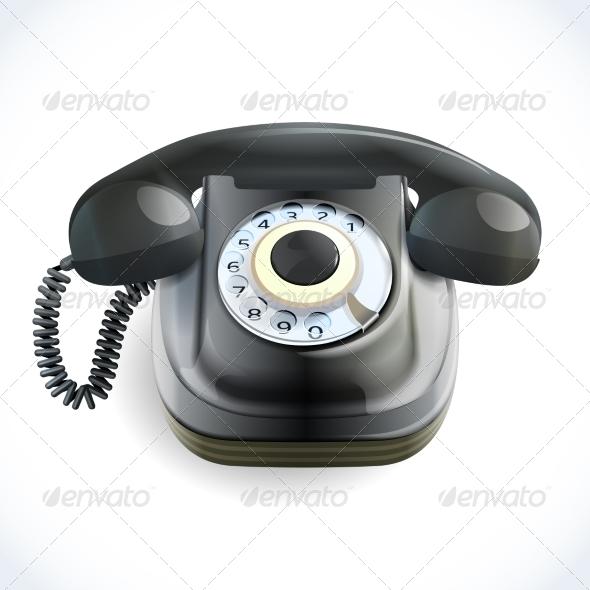 GraphicRiver Retro Style Telephone 7921749