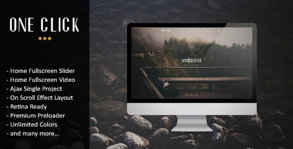 ThemeForest One Click Parallax One Page HTML Template 7881785