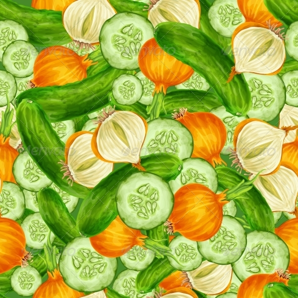 GraphicRiver Vegetables Seamless Background 7921791