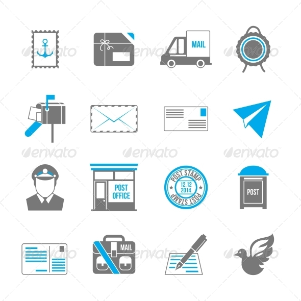 GraphicRiver Post Service Icons 7921821