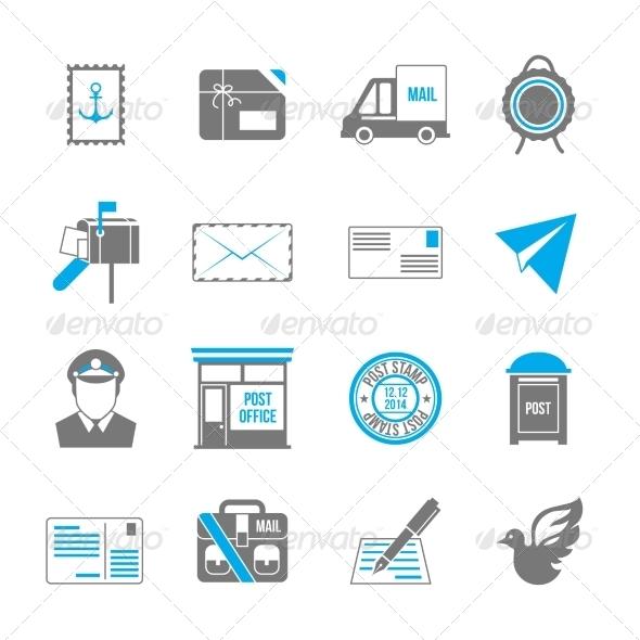 GraphicRiver Post Service Icons 7921821