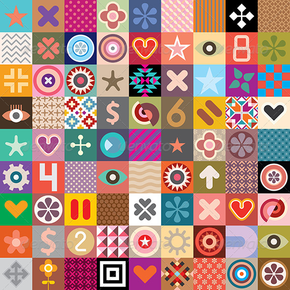 GraphicRiver Abstract Symbols and Patterns 7922095