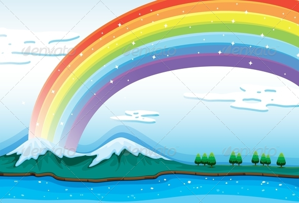 GraphicRiver Rainbow in the Sky 7925641