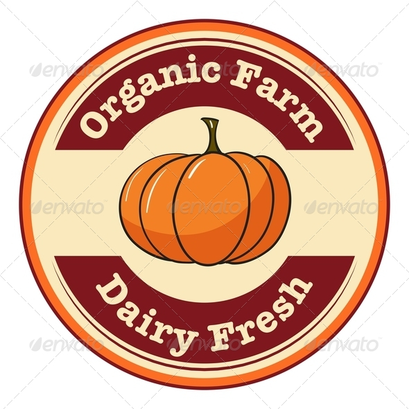 GraphicRiver Farm and Dairy Pumpkin Label 7925672