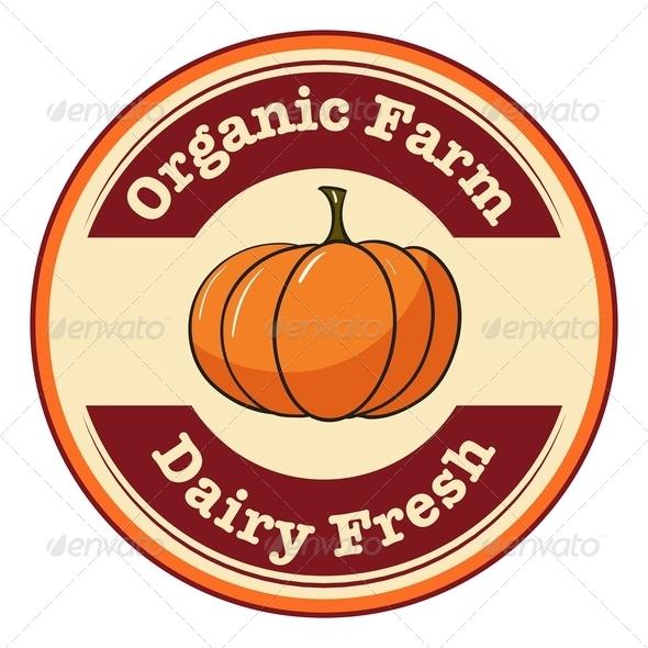 GraphicRiver Farm and Dairy Pumpkin Label 7925672