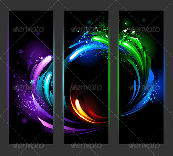 GraphicRiver Vertical Banners with Abstract Background 7925679