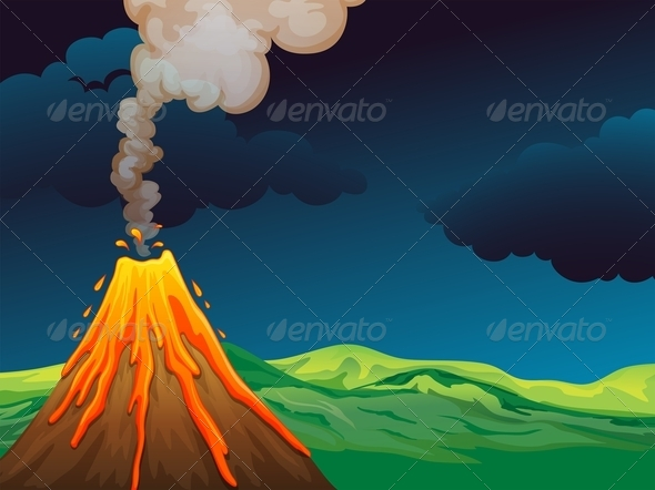 GraphicRiver Volcano 7925939