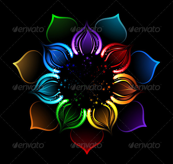 GraphicRiver Rainbow Lotus 7926059