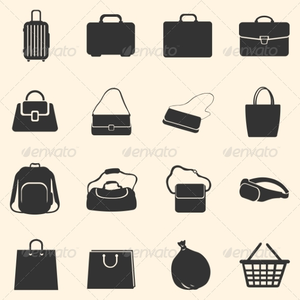 GraphicRiver Set of Bags Icons 7926357