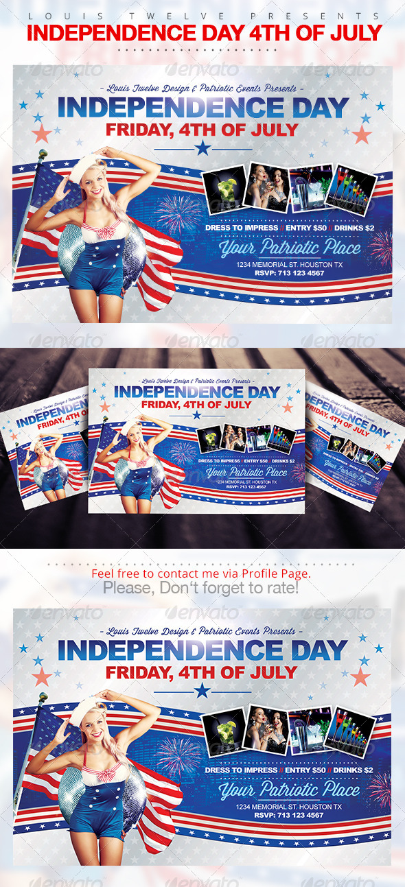 GraphicRiver Independence Day 4th of July Horizontal Flyer 7926623