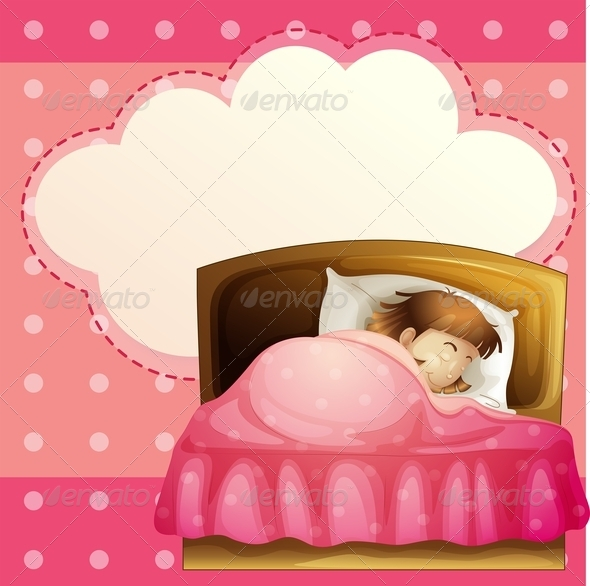 GraphicRiver Girl Sleeping in Bedroom 7926625