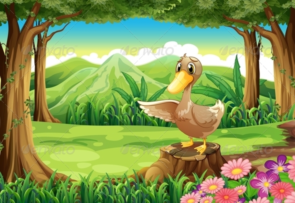 GraphicRiver Duck in a Forest 7926647