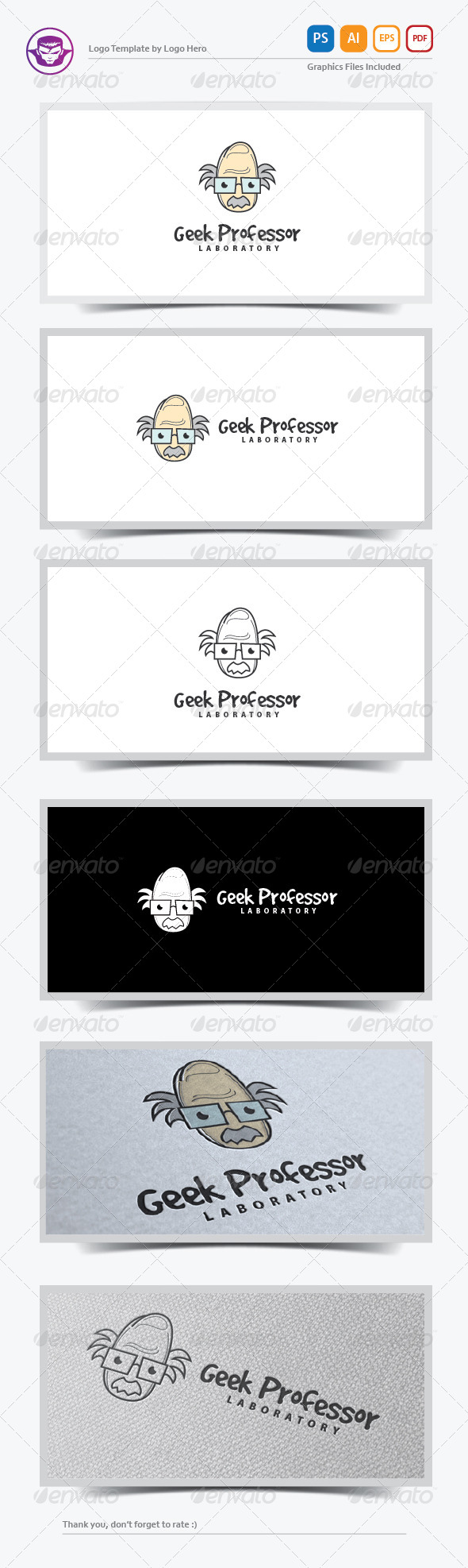 GraphicRiver Geek Professor Logo Template 7926760