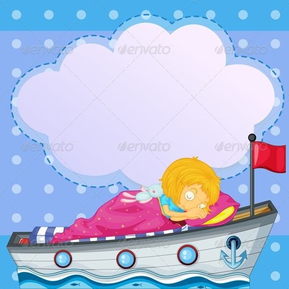 GraphicRiver Girl Sleeping in Bedroom 7927528