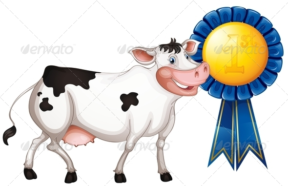 GraphicRiver Cow Wins First Prize 7927559