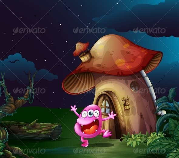 GraphicRiver Monster by a Mushroom House 7927589