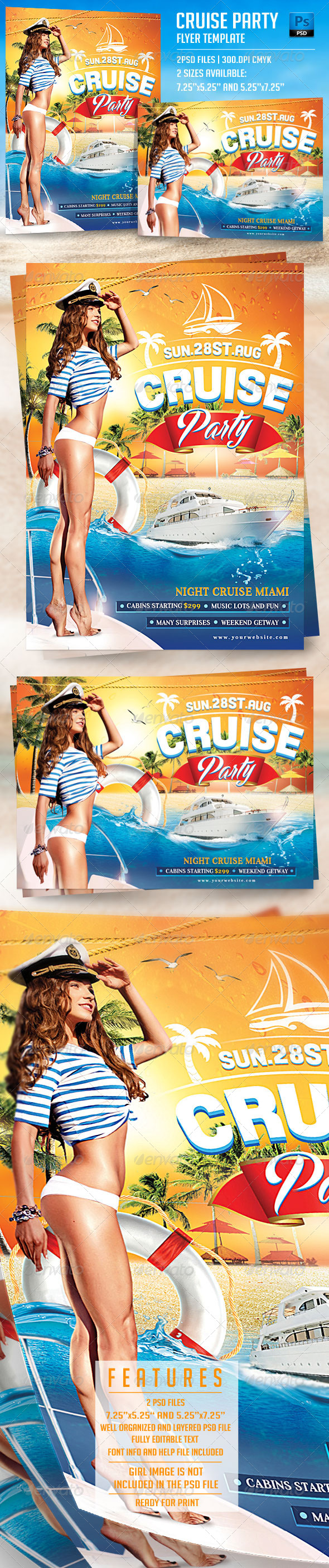 GraphicRiver Cruise Party Flyer Template 7927684