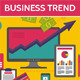 3 Business Trend Illustration in Flat Design Style - GraphicRiver Item for Sale