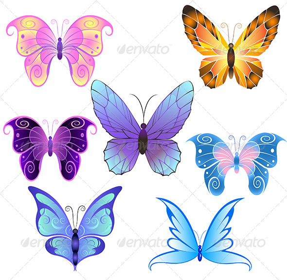 GraphicRiver Butterflies 7927707