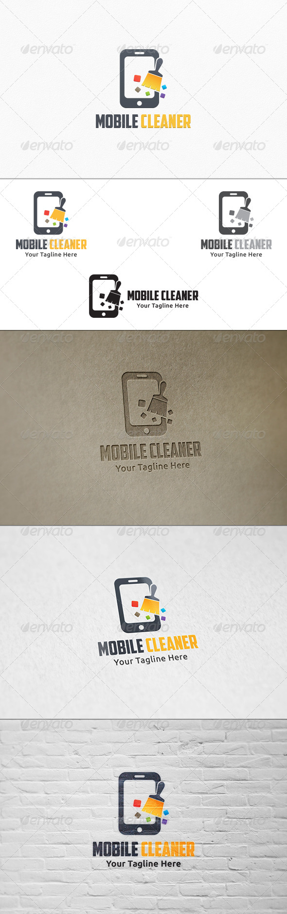 GraphicRiver Mobile Cleaner Logo Templates 7928645