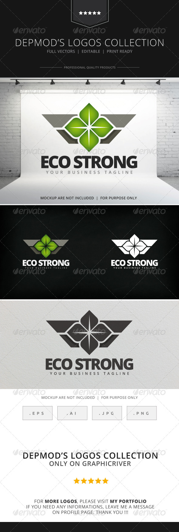 GraphicRiver Eco Strong Logo 7929253