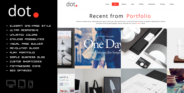 ThemeForest DOT Creative One Page Multi-Purpose Theme 7929731