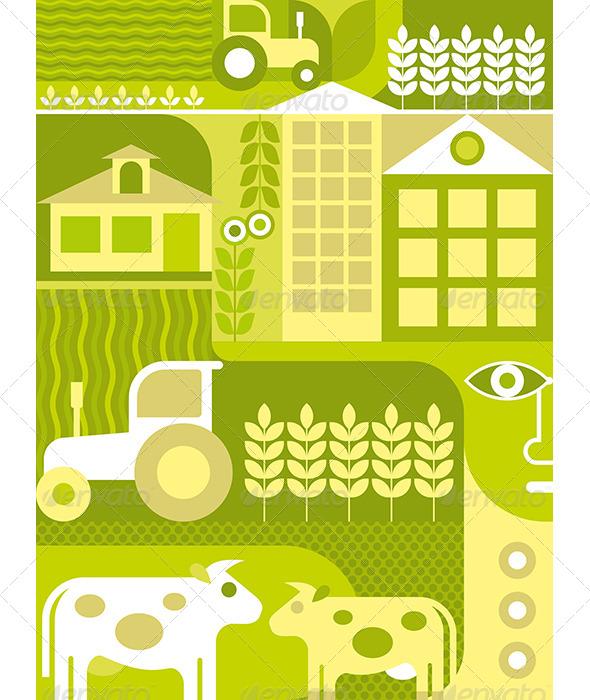 GraphicRiver Farm Illustration 7930248