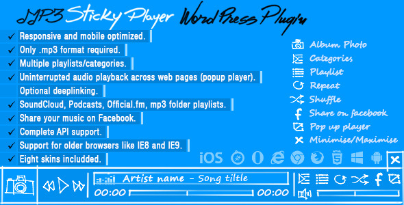 CodeCanyon MP3 Sticky Player Wordpress Plugin 7930491