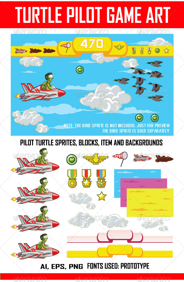 GraphicRiver Pilot Turtle Game 7927548