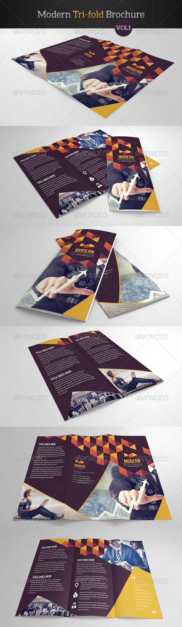 GraphicRiver Modern Trifold Brochure 7931244