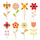 Flower Icon Set - GraphicRiver Item for Sale