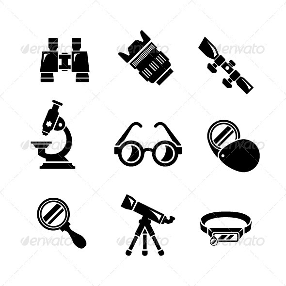 GraphicRiver Set Icons of Optics Equipment 7931924