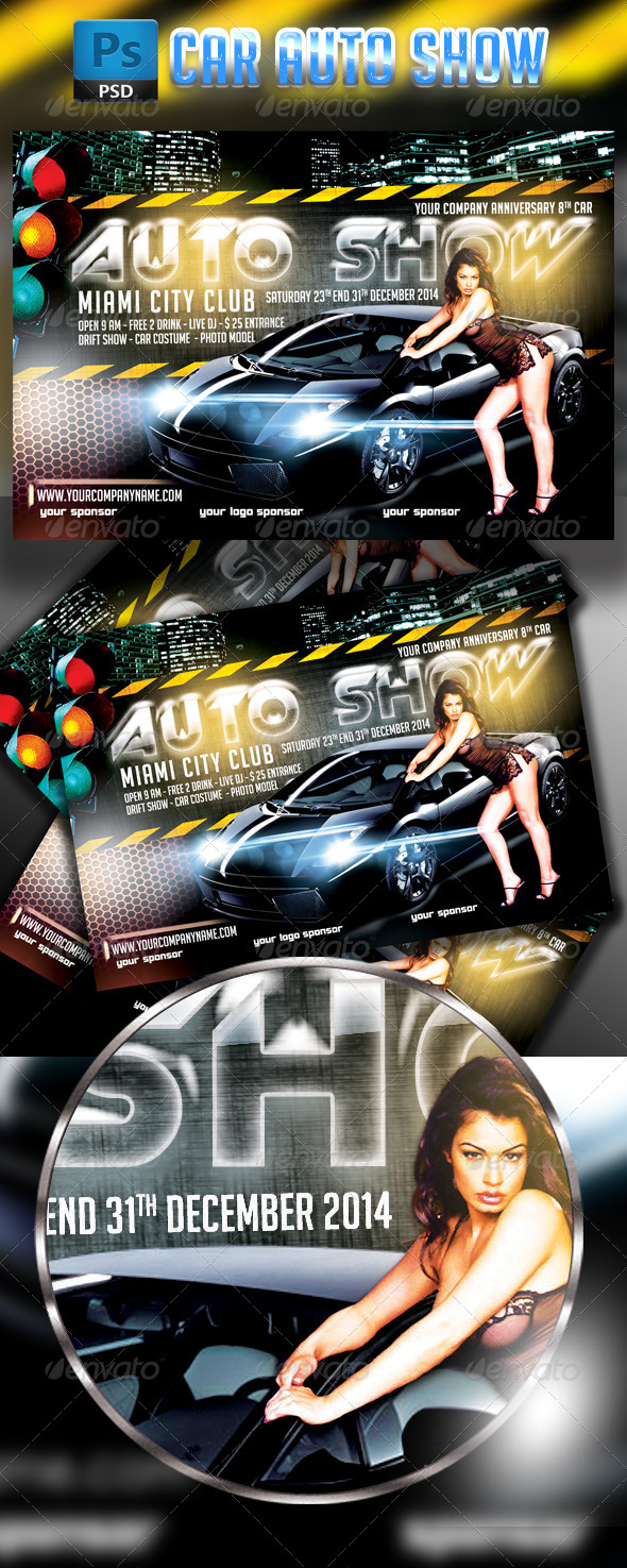 GraphicRiver Car Auto Show Flyer I Horizontal Template 7933515