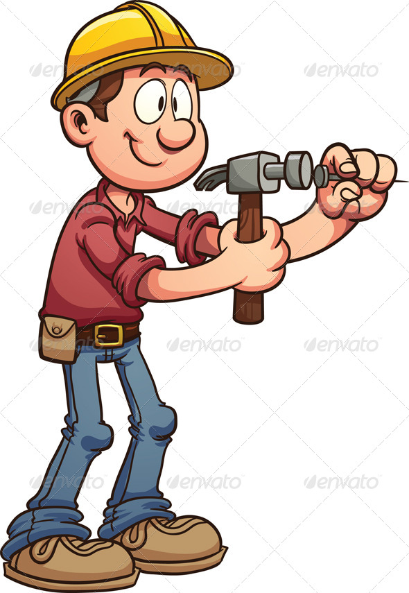 GraphicRiver Hammering Nail 7933874