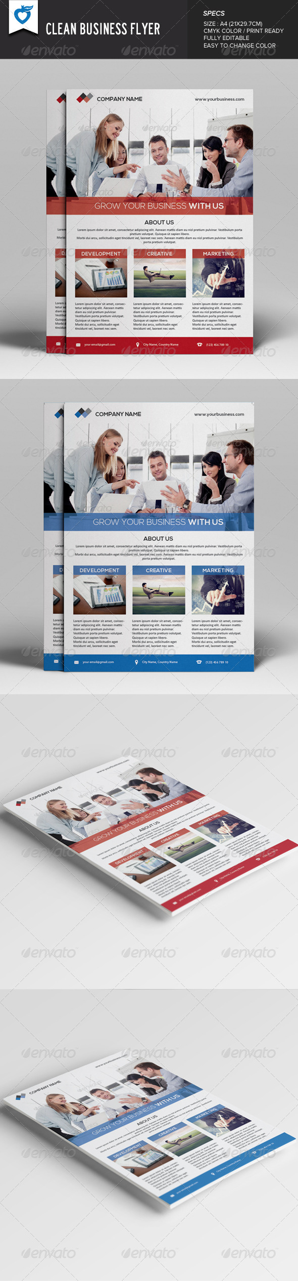 GraphicRiver Clean Business Flyer 7934212