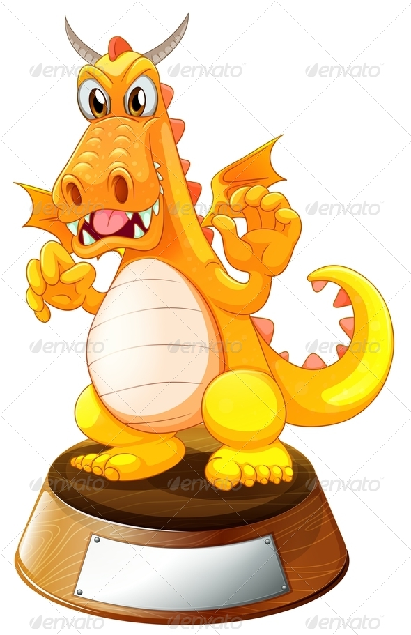 GraphicRiver Angry Dragon Above the Trophy Stand 7935013