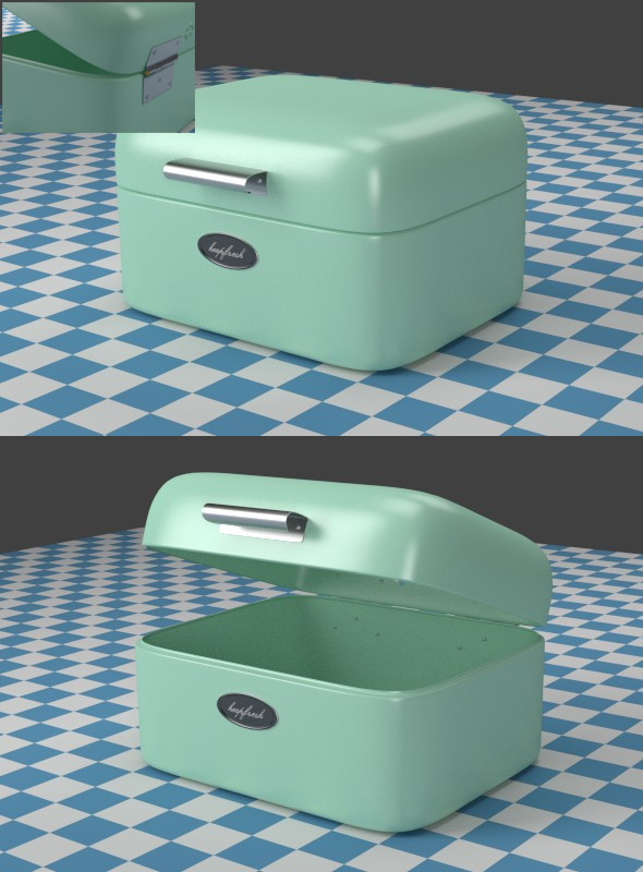 3DOcean A small mint Breadbox 7935046
