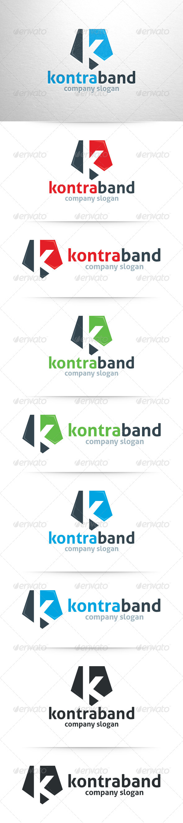 GraphicRiver Letter K Logo Template 7936332