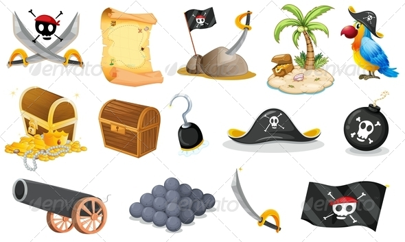 GraphicRiver Things Related to a Pirate 7936519