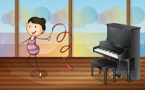 GraphicRiver Gymnast in Music Room 7937034