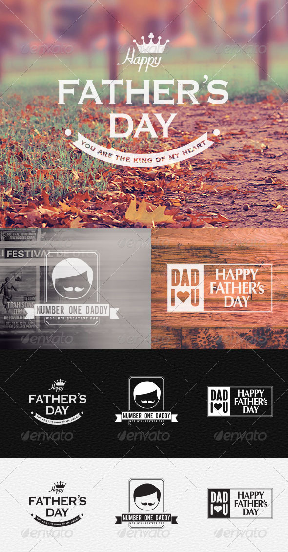 GraphicRiver Father s Day Badges & Stickers 7907789