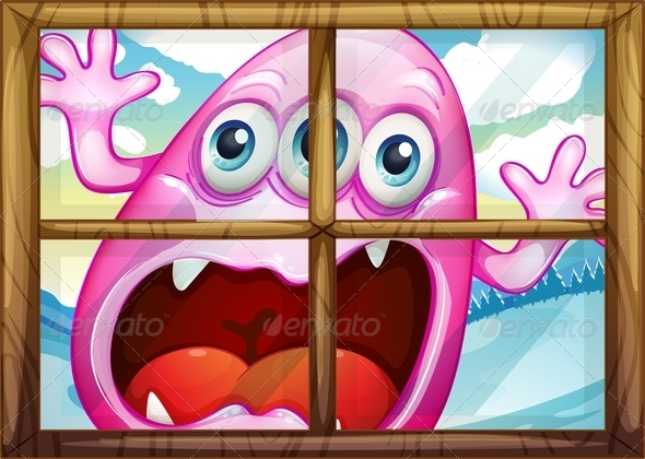 GraphicRiver Window with Monster 7937110