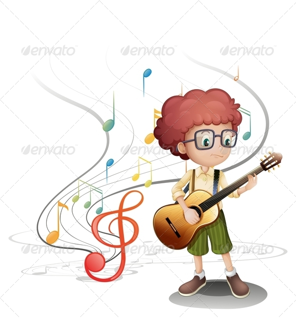 GraphicRiver Boy Playing Guitar 7937161