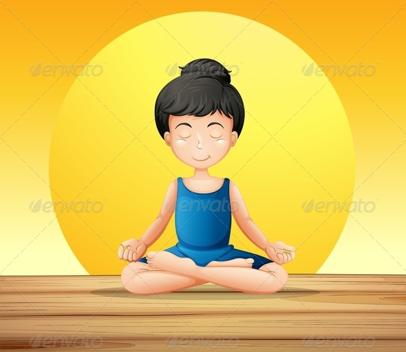 GraphicRiver Girl Doing Yoga 7937290