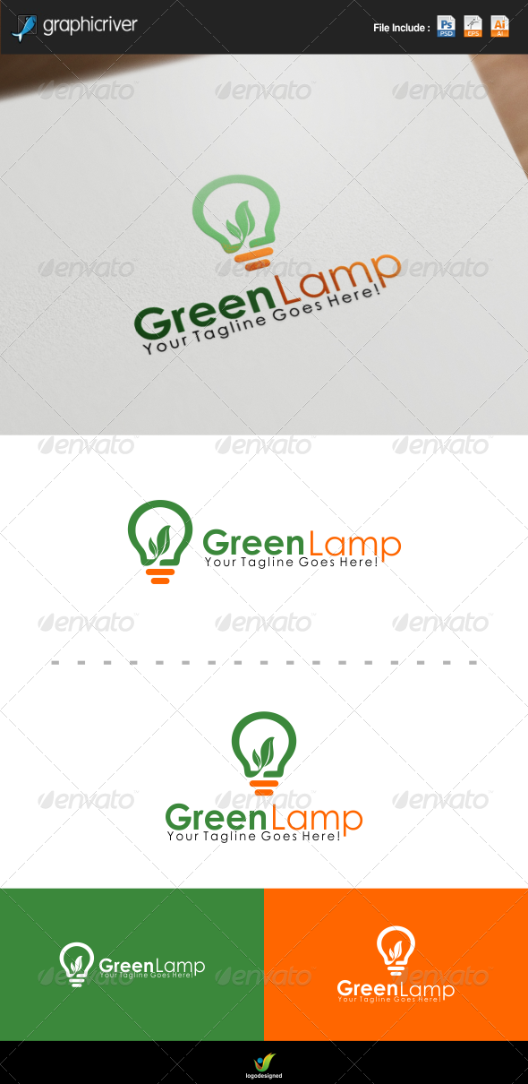 GraphicRiver Green Lamp Logo Template 7937446