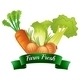 Farm Fresh Label with Vegetables - GraphicRiver Item for Sale