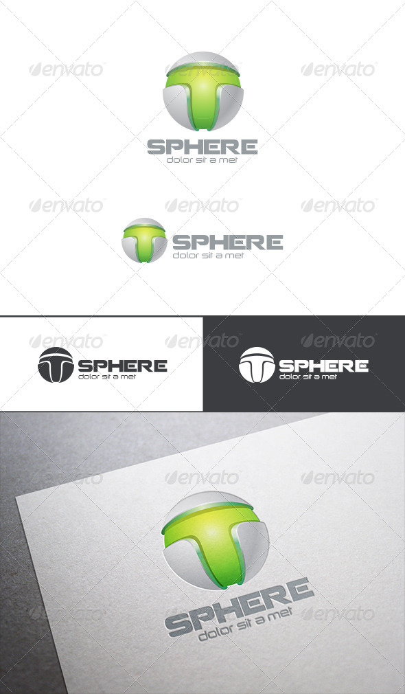 GraphicRiver Technological Letter T Sphere Logo Abstract 7937585